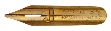C. Brandauer & Co, No. 251 B, J, vergoldet