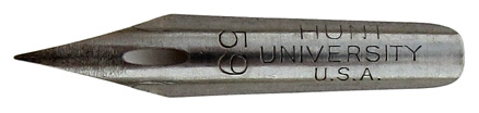 Pointed dip pen nib, C. Howard Hunt Pen Co, No. 59, University, Round Pointed