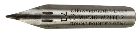 C. Howard Hunt Pen Co., No. 71, Music Writer, Round Pointed Pens