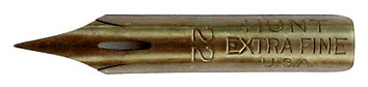 Pointed nib for calligraphy, Hunt No 22 Extra Fine