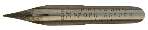 R. Rix & Son, No. 1881 M, Popular Pen