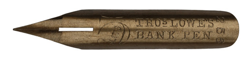 Thomas Lowe, No. 256, Bank Pen, 5 Slits
