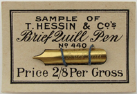 Thessin & Co, Sample of No 440, Brief Quill